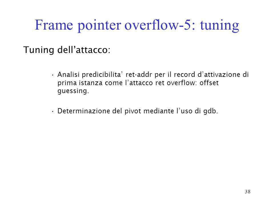 Frame pointer overflow-5: tuning