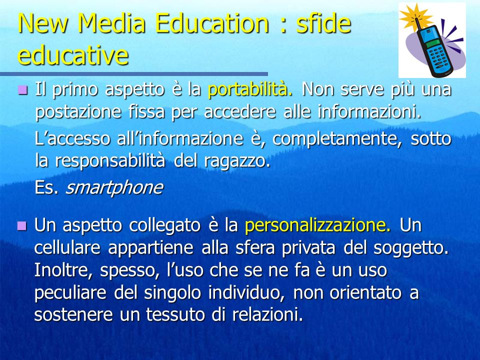 New Media Education : sfide educative