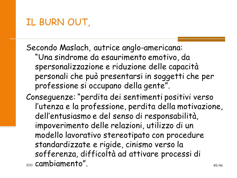 IL BURN OUT,