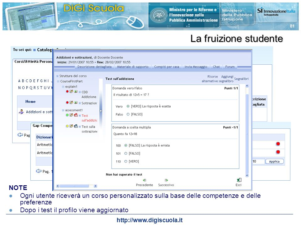 La fruizione studente NOTE