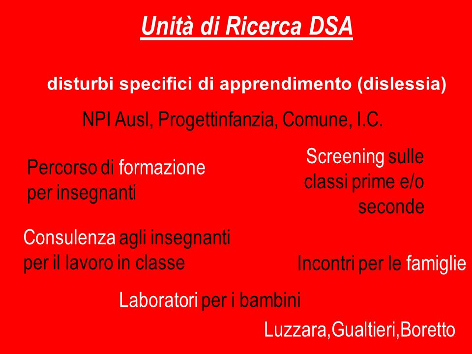 disturbi specifici di apprendimento (dislessia)