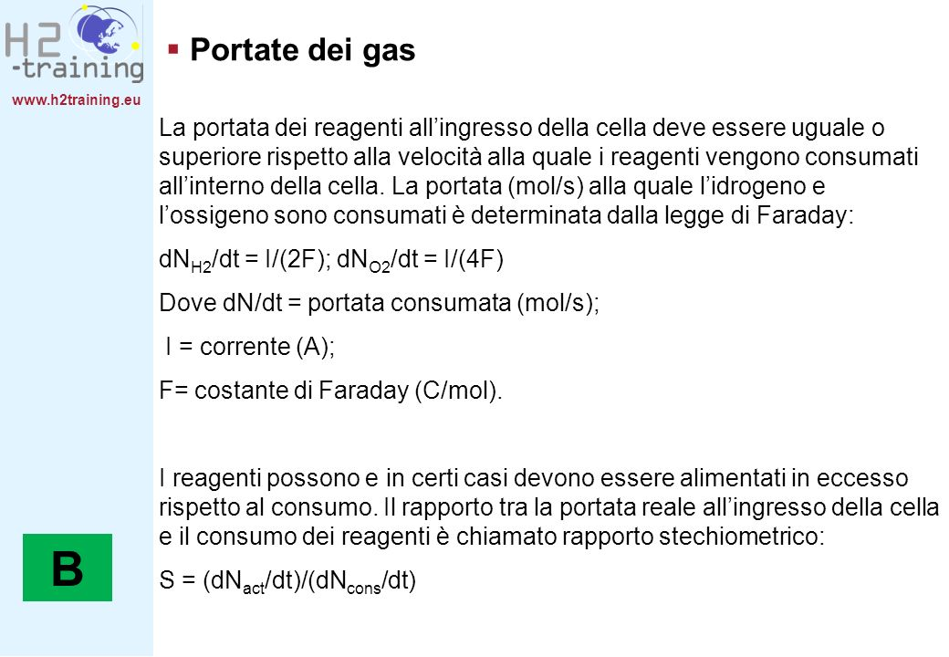 H2 Training Manual Portate dei gas.