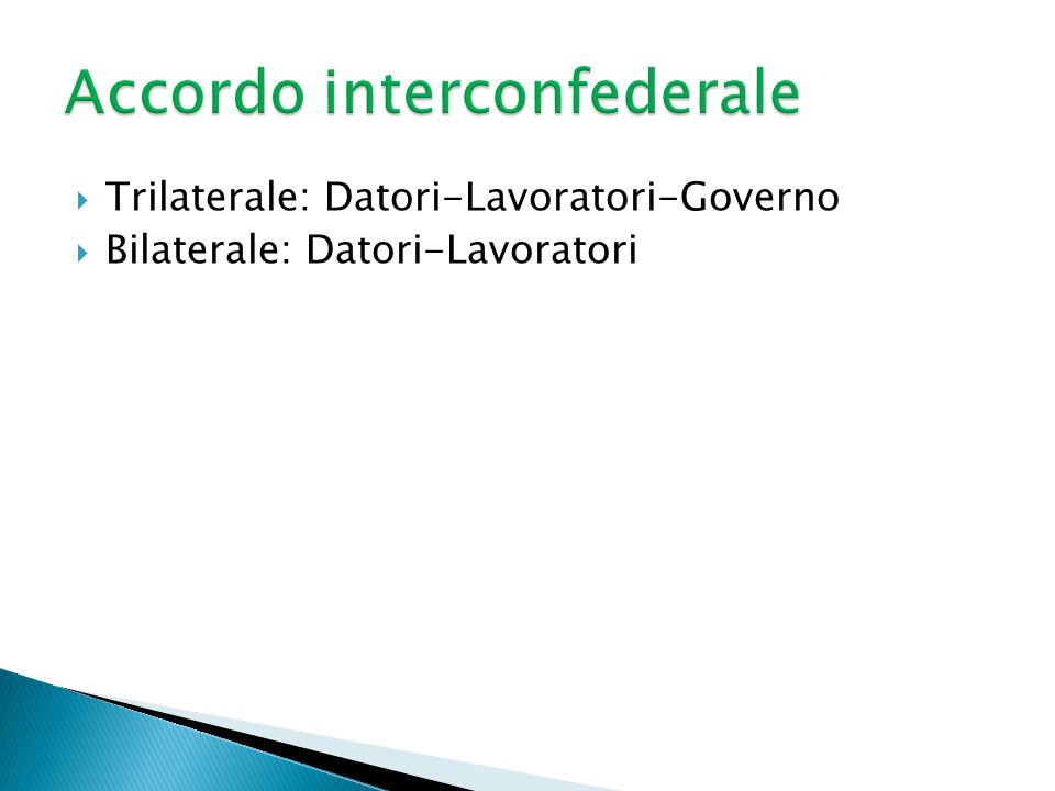 Accordo interconfederale