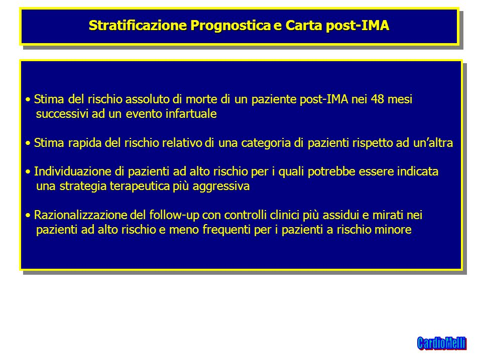 Stratificazione Prognostica e Carta post-IMA