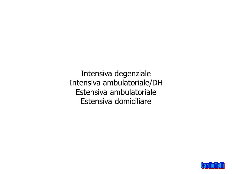 Intensiva ambulatoriale/DH Estensiva ambulatoriale