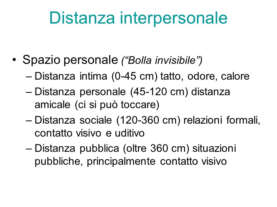 Distanza interpersonale