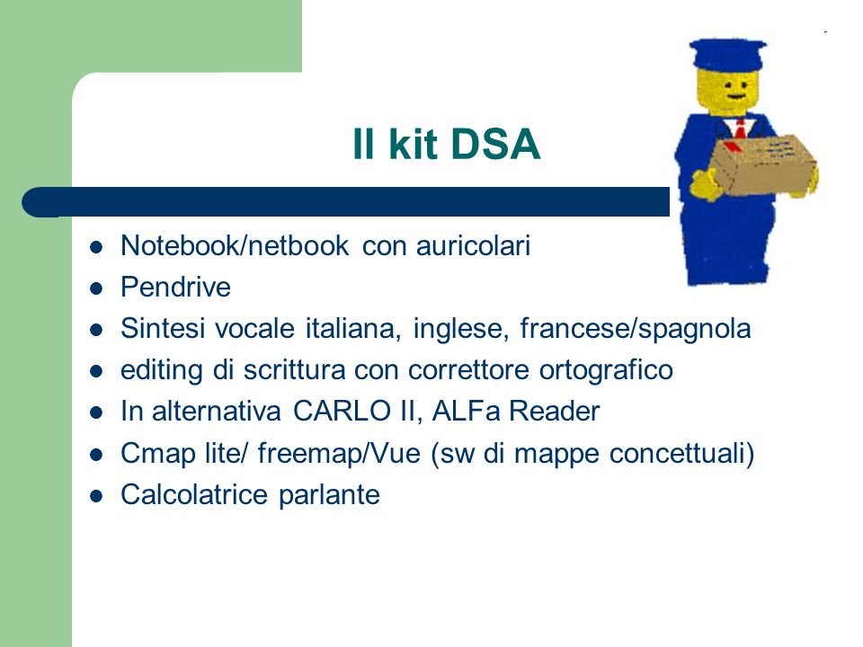 Il kit DSA Notebook/netbook con auricolari Pendrive
