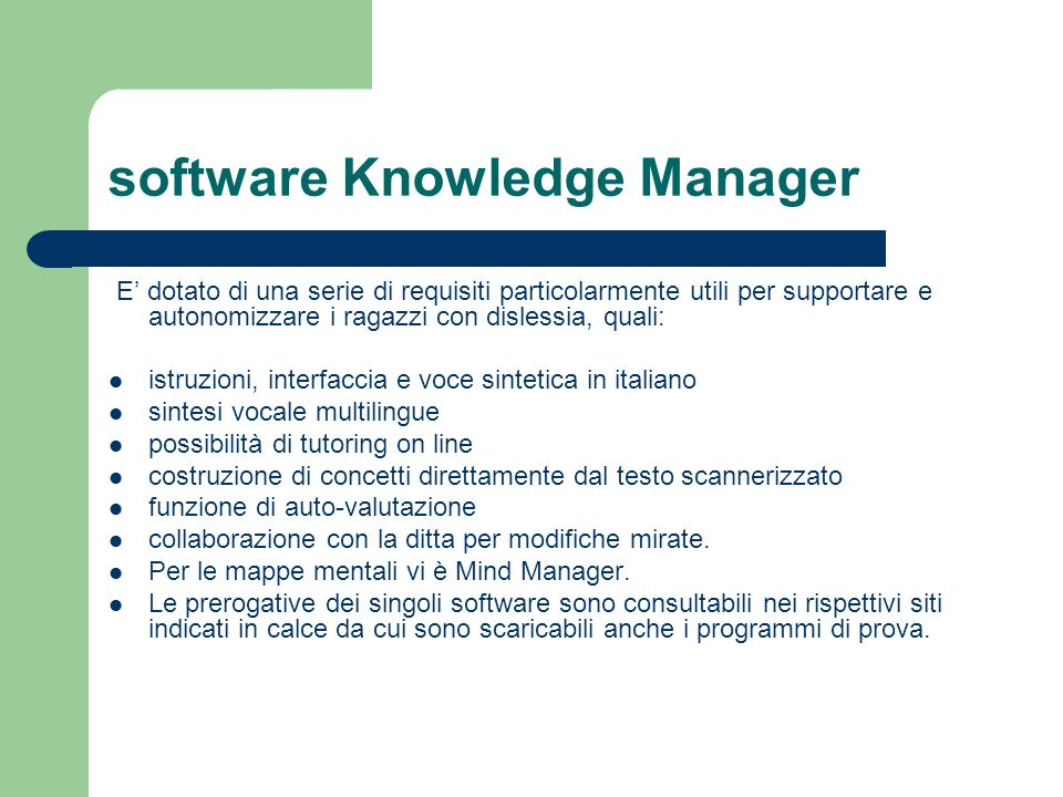 software Knowledge Manager