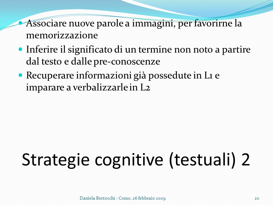 Strategie cognitive (testuali) 2