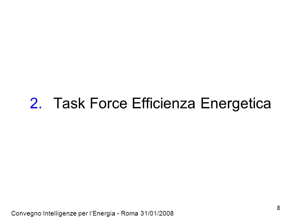 Task Force Efficienza Energetica