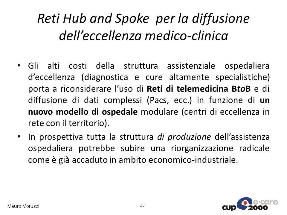 Reti Hub and Spoke per la diffusione dell'eccellenza medico-clinica