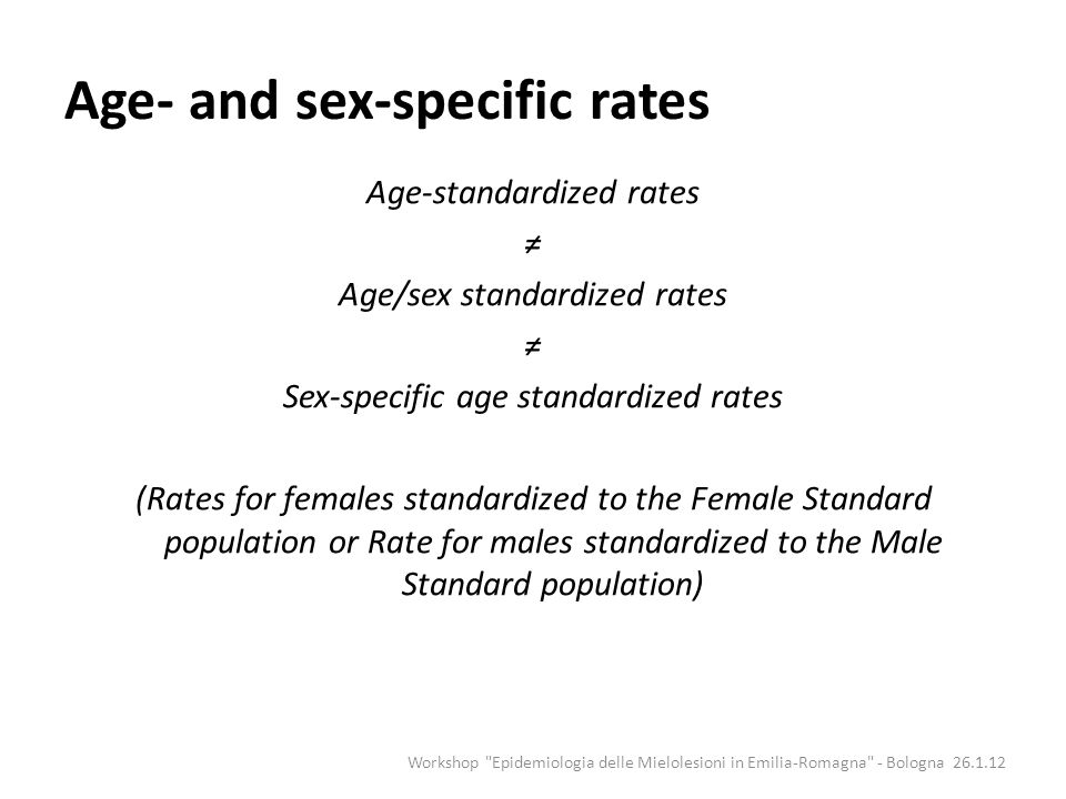 Age- and sex-specific rates