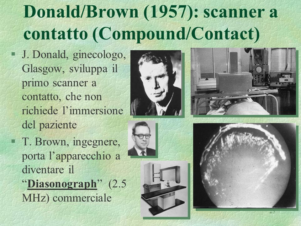 Donald/Brown (1957): scanner a contatto (Compound/Contact)