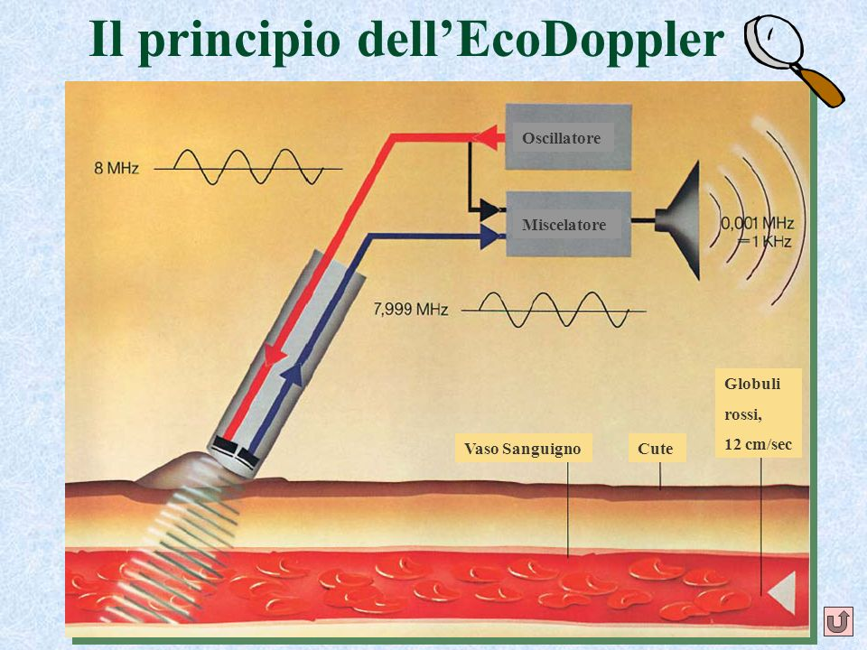 Il principio dell'EcoDoppler