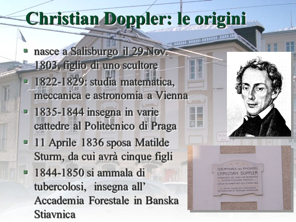 Christian Doppler: le origini