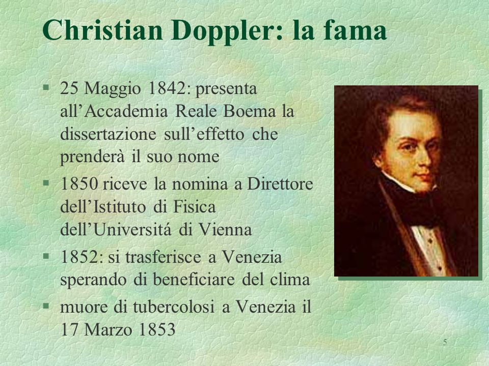 Christian Doppler: la fama