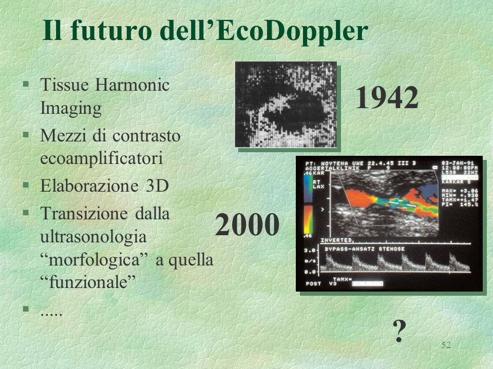 Il futuro dell'EcoDoppler