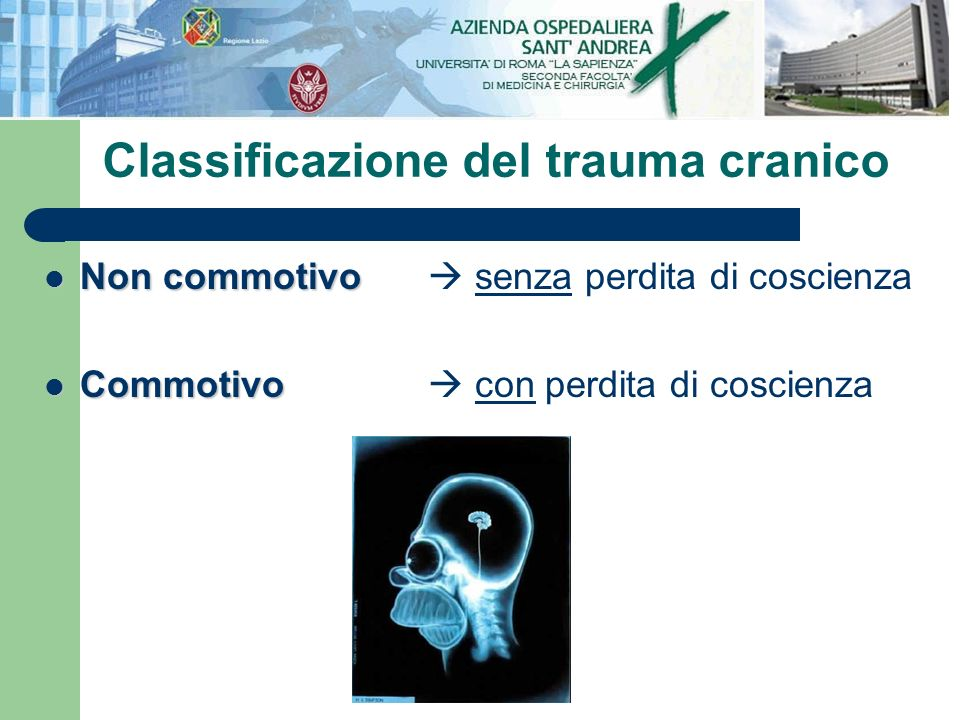 Classificazione del trauma cranico