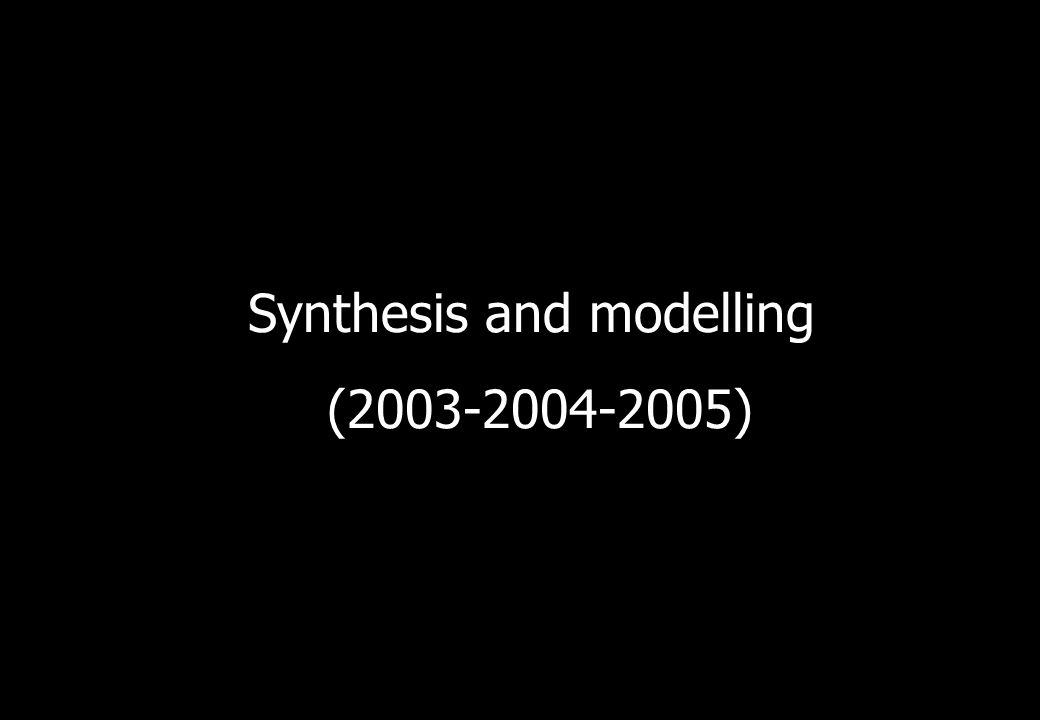 Synthesis and modelling