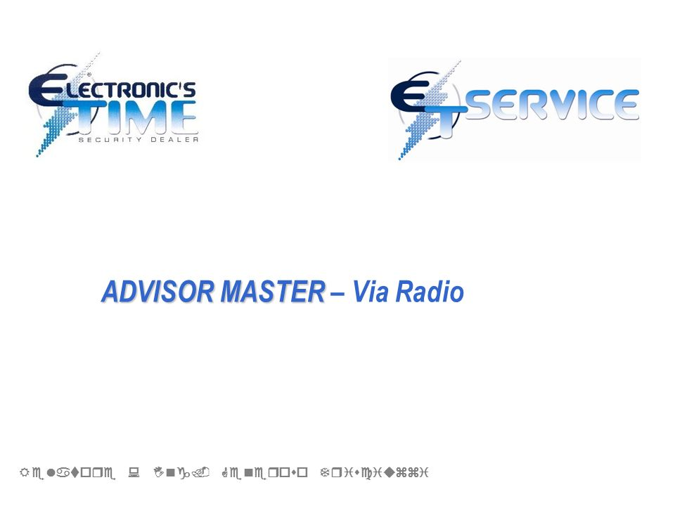 ADVISOR MASTER – Via Radio