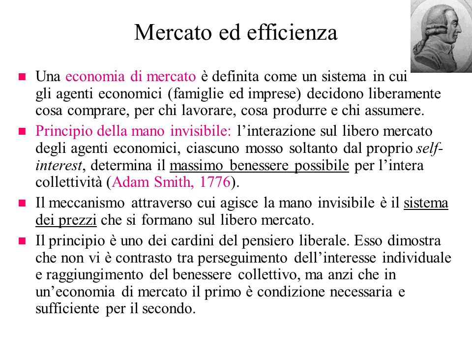 Mercato ed efficienza