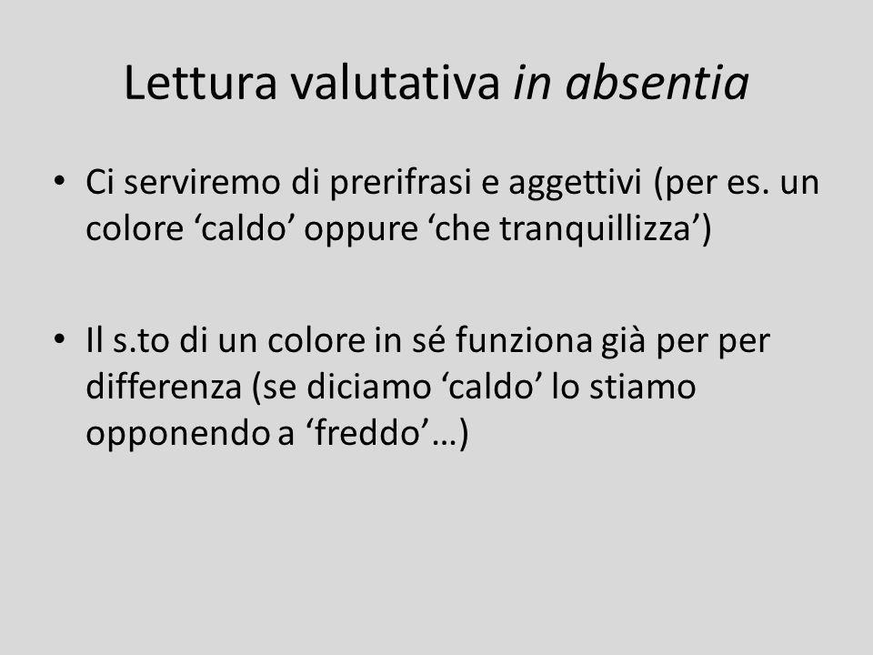 Lettura valutativa in absentia