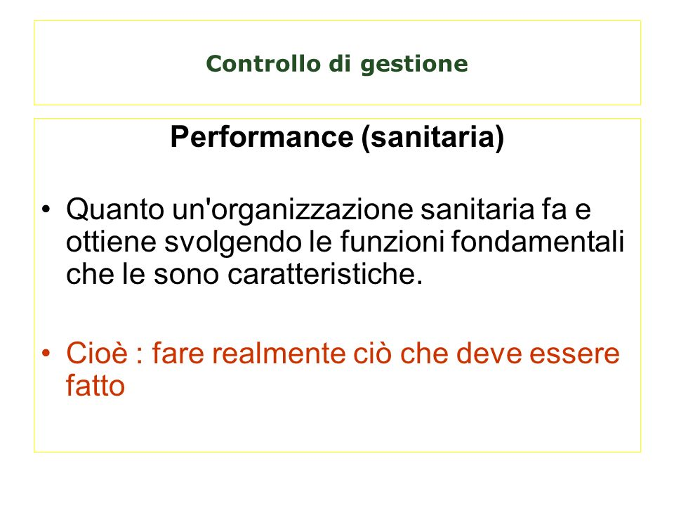 Performance (sanitaria)