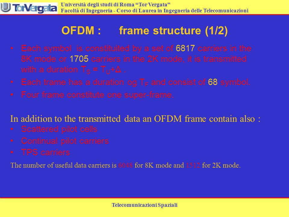 OFDM : frame structure (1/2)