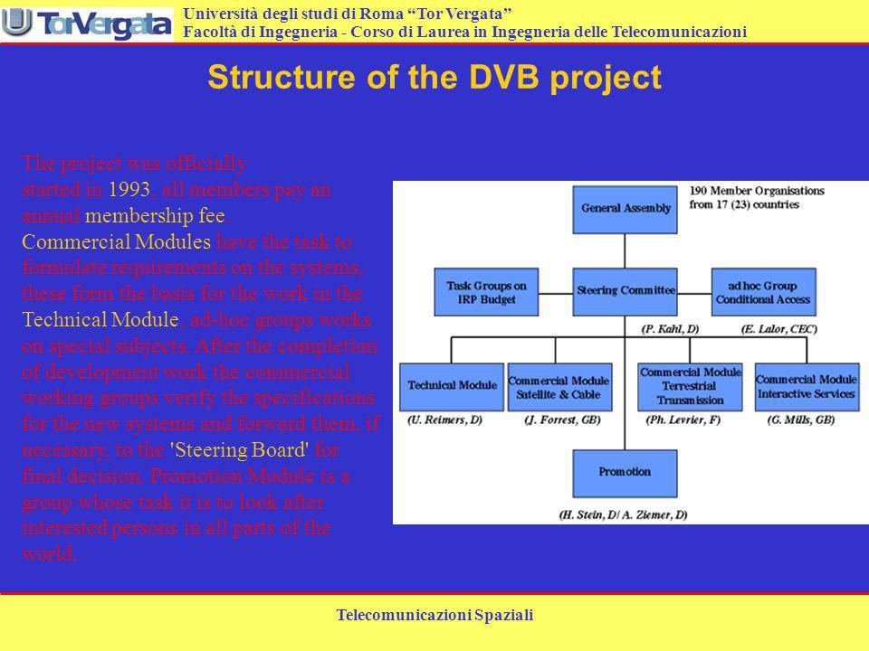 Structure of the DVB project