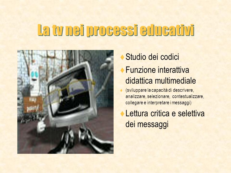 La tv nei processi educativi