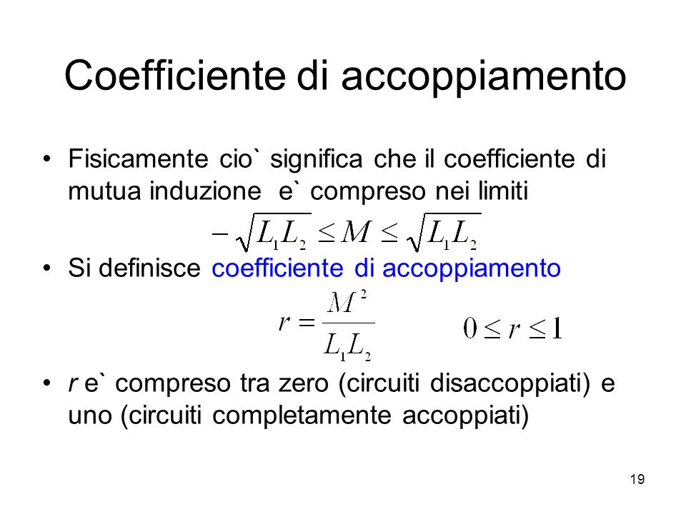 Coefficiente di accoppiamento