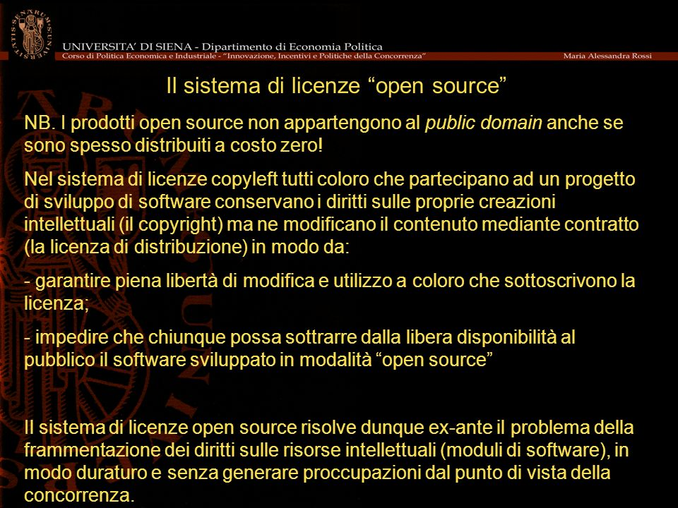 Il sistema di licenze open source