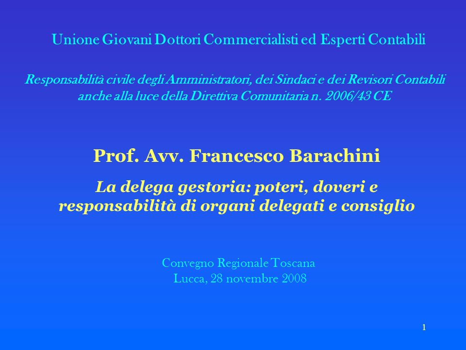 Prof. Avv. Francesco Barachini