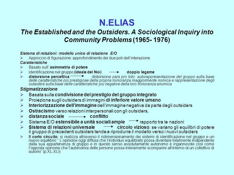 N. ELIAS The Established and the Outsiders