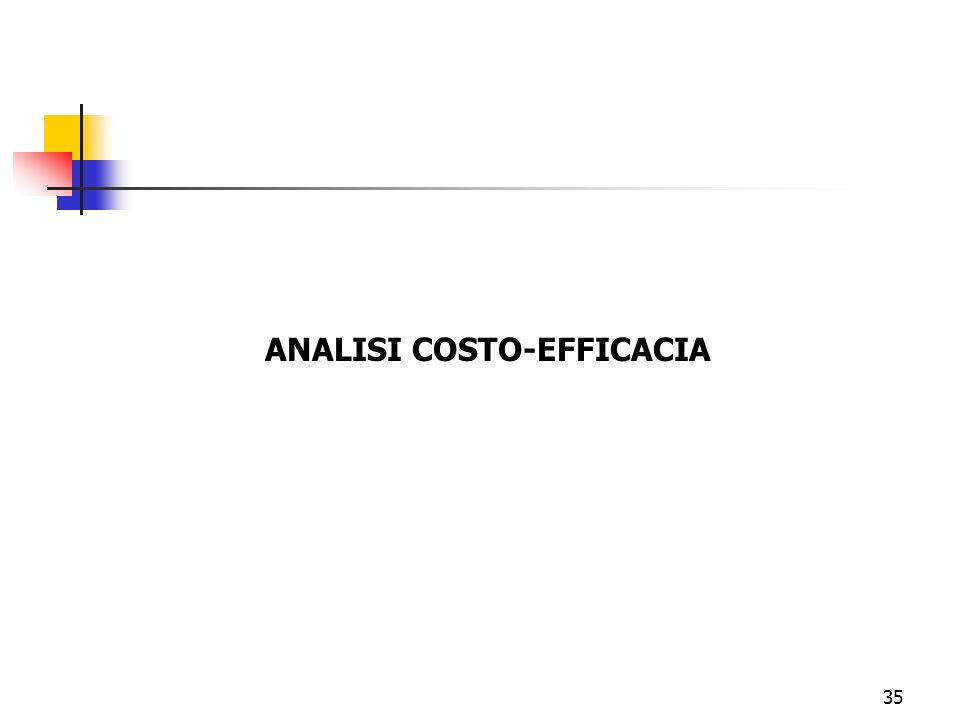 ANALISI COSTO-EFFICACIA