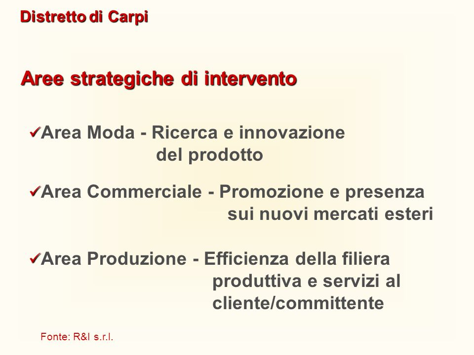 Aree strategiche di intervento