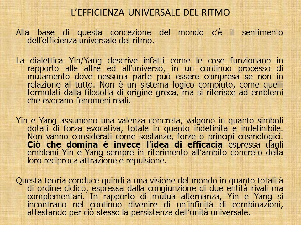 L'efficienza universale del ritmo