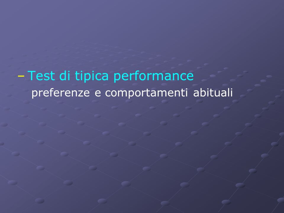 Test di tipica performance