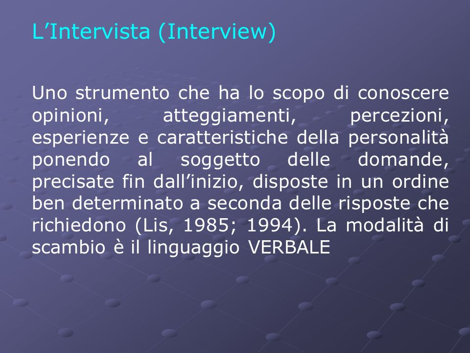 L'Intervista (Interview)