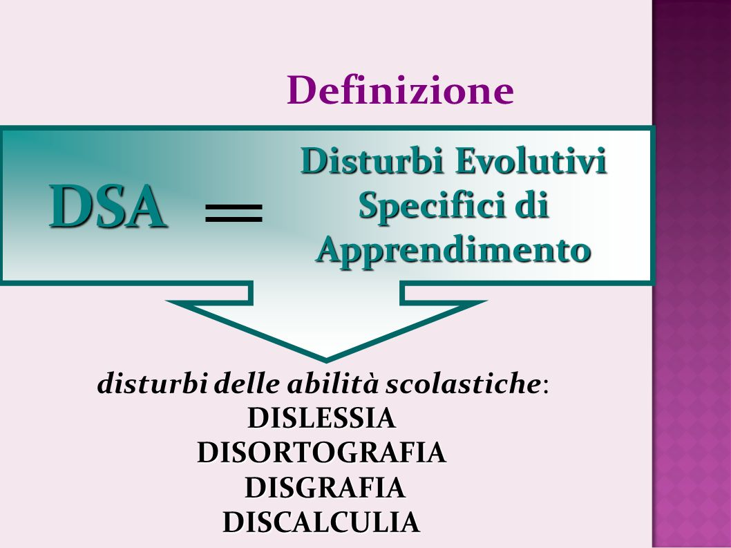 Disturbi Evolutivi Specifici di Apprendimento