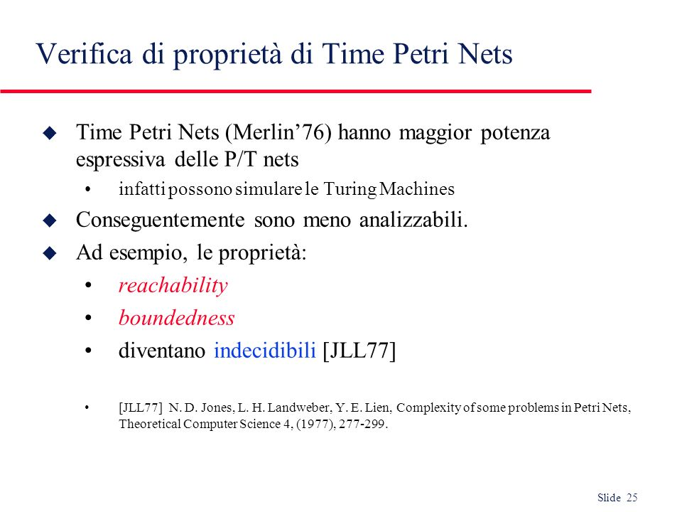 Verifica di proprietà di Time Petri Nets