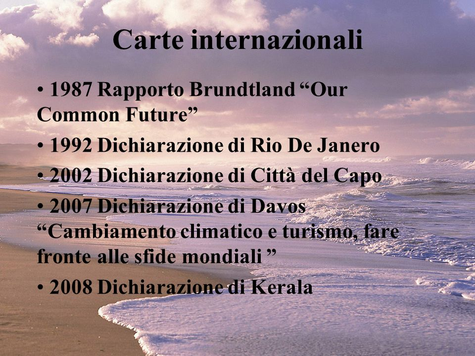 Carte internazionali 1987 Rapporto Brundtland Our Common Future