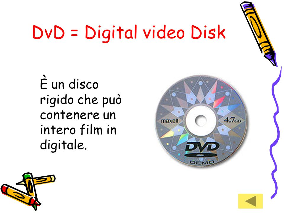 DvD = Digital video Disk