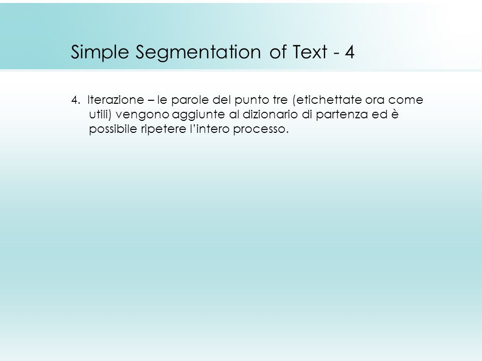 Simple Segmentation of Text - 4