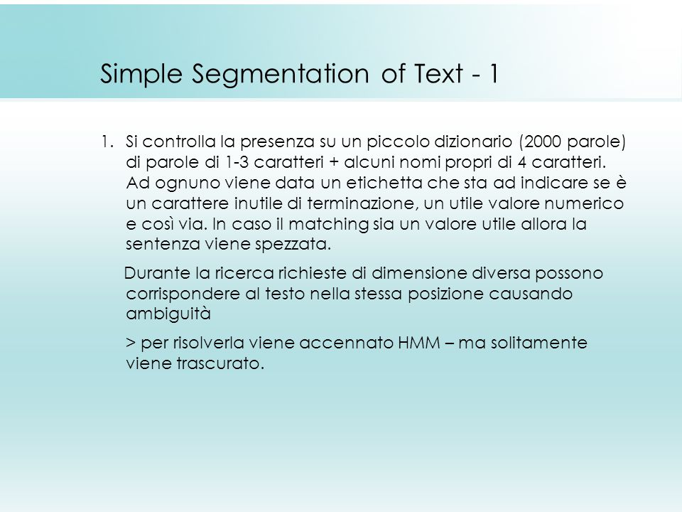 Simple Segmentation of Text - 1
