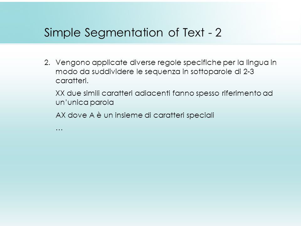 Simple Segmentation of Text - 2