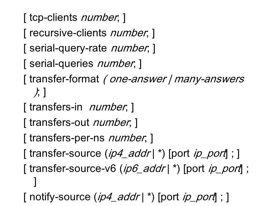 [ tcp-clients number; ]