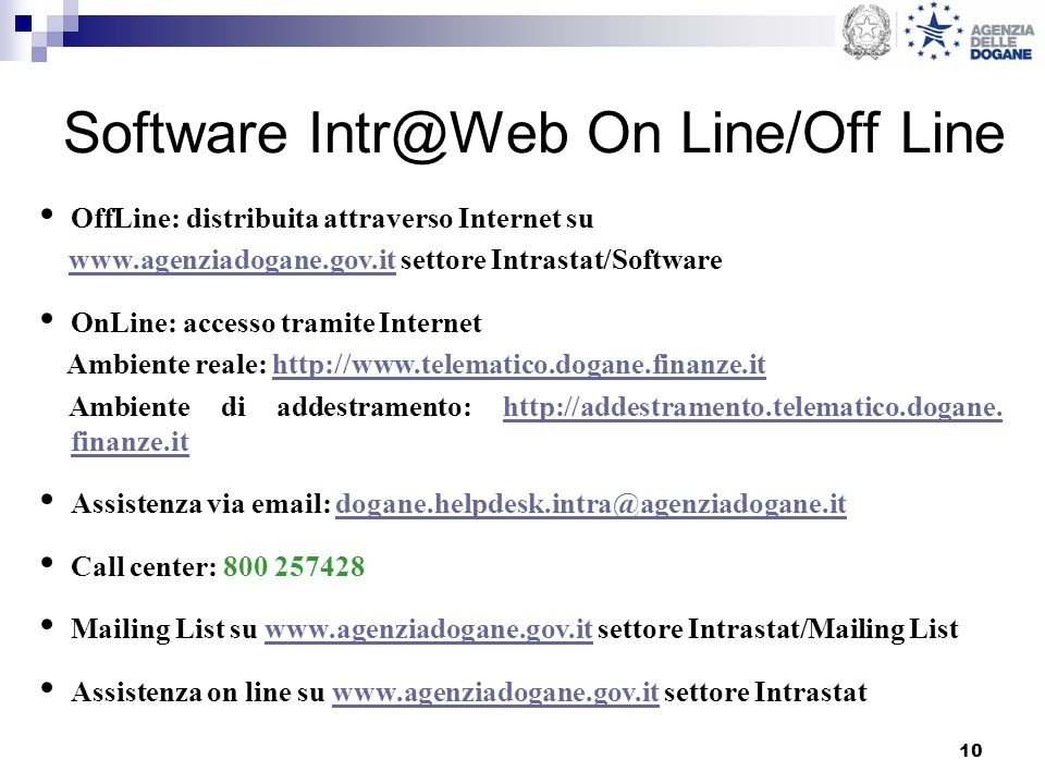 Software On Line/Off Line