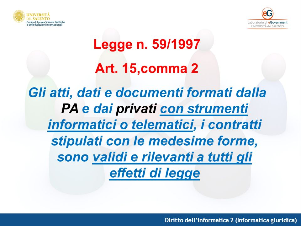 Legge n. 59/1997 Art. 15,comma 2.
