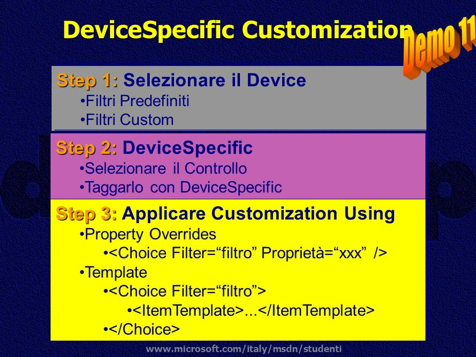 DeviceSpecific Customization